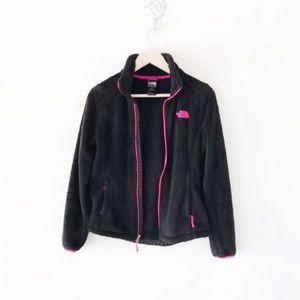 North face black & pink osito jacket